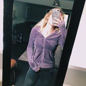 JUICY COUTURE purple zip up